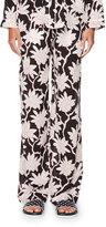 Valentino Rhododendron-Print Pajama Pants