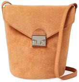 Loeffler Randall Small Suede Flap Bucket Bag