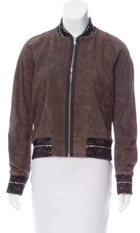 Yigal Azrouel Suede Bomber Jacket w/ Tags