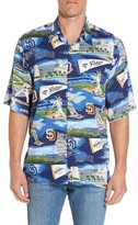 Reyn Spooner Men's San Diego Padres Print Camp Shirt