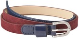 LOFT Suede and Patent Belt