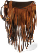 Emilio Pucci Fringed suede and leather shoulder bag