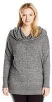 Knits by Hampshire Women's Plus-Size Marled Cowl-Neck Sweater