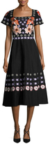 Temperley London Sylvie Cotton Embroidered A Line Dress