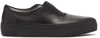 Primury - Basal Leather Slip-on Trainers - Black