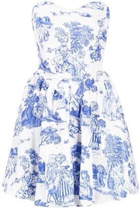 Moschino Floral-Print Mini Dress