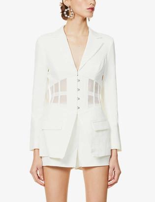 Lavish Alice Corset stretch-crepe blazer