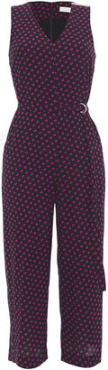 MICHAEL Michael Kors Belted Printed Crepe Jumpsuit