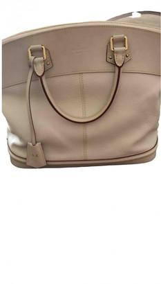 Louis Vuitton Lockit White Leather Handbags
