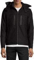 T Tahari Waterproof Hooded Wool-Blend Coat, Black