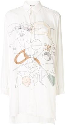 Ports 1961 Abstract-Print Shirt Dress
