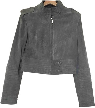 Chanel Grey Suede Leather jackets