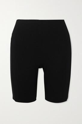 Paco Rabanne Milano Printed Stretch-jersey Shorts - Black