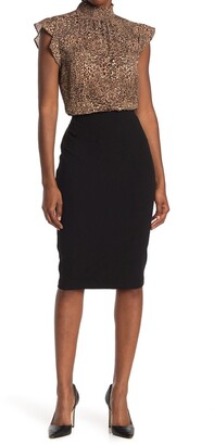 Vince Camuto Solid Midi Skirt