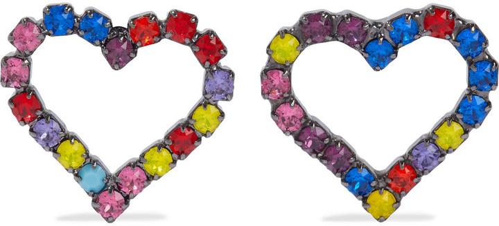 Elizabeth Cole Lexi Hematite-plated Swarovski Crystal Earrings