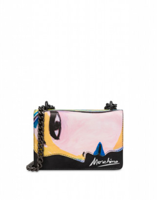 Moschino Woman's Drawing Shoulder Bag Woman Multicoloured Size U It - (one Size Us)
