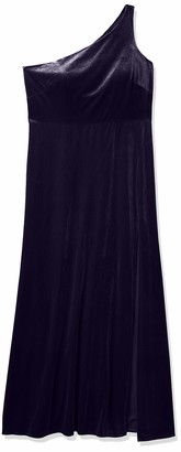 Jenny Yoo Women's Cybill One Shoulder Stretch Velvet Dress