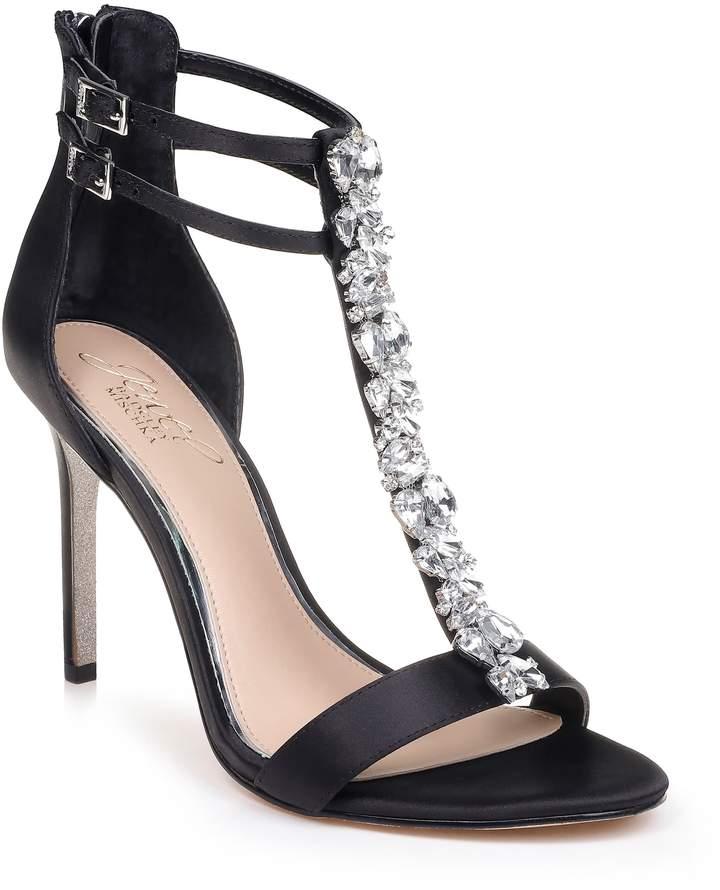 Badgley Mischka Daughtry Embellished T-Strap Sandal