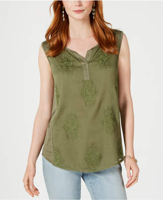 Style&Co. Style & Co Petite Embroidered Top