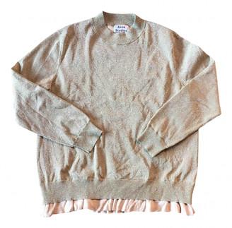 Acne Studios Gold Cotton Knitwear for Women