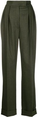 Agnona Wide-Leg Side Stripe Trousers