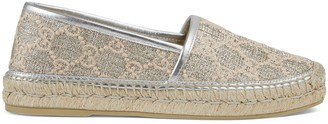 Gucci Women's Heritage GG lame espadrille