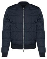 Hugo Boss Skyles Cotton Nylon Reversible Bomber Jacket M Blue