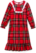 Komar Kids Red & Green Plaid Eyelet-Trim Nightgown - Girls