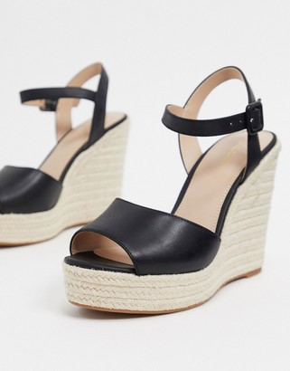 Aldo ybelani leather glam wedges in black
