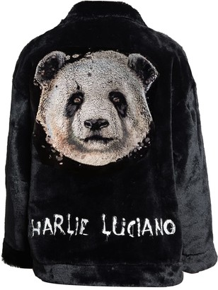 Charlie Luciano Panda Unisex Artificial Fur Jacket