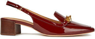 Tory Burch Jessa 45 Embellished Glossed-leather Slingback Pumps
