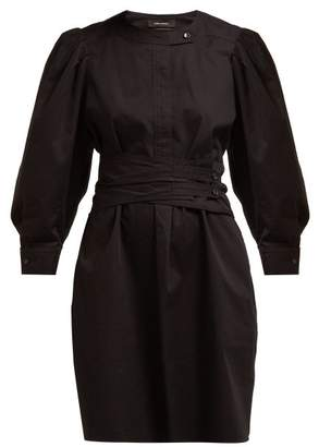 Isabel Marant Galaxy Belted Cotton Shirt Dress - Womens - Black