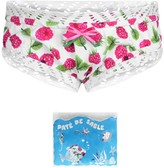 Pate De Sable Raspberry Print Swim Pants