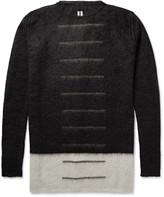 Rick Owens - Colour-block Mohair-blend Sweater