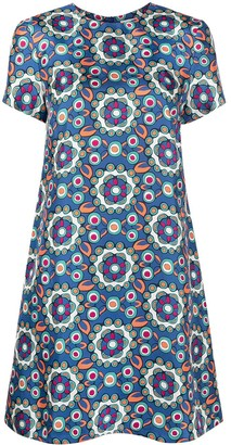 La DoubleJ Kaleidoscope print shift dress