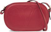 Valentino Embroidered leather shoulder bag