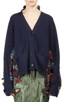 Sacai Wool Floral Lace Cardigan