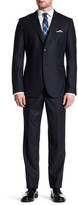 James Campbell Fabio Black Houndstooth Two Button Notch Lapel Slim Fit Suit