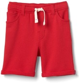 Terry pull-on shorts