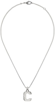 "Gucci Silver ""C"" letter necklace"