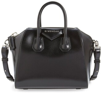Givenchy 'Mini Antigona' Box Leather Satchel