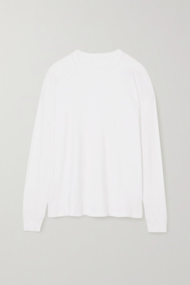 YEAR OF OURS Boyfriend Cotton-jersey Top - White