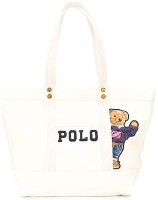 Polo Ralph Lauren denim teddybear tote bag