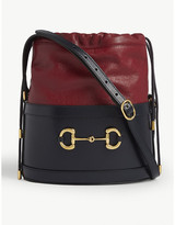 Gucci Morsetto Horsebit leather bucket bag
