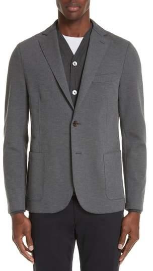 Eleventy Slim Fit Stretch Cotton Blend Blazer