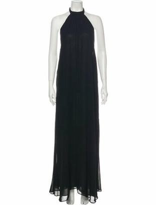 Reformation Halterneck Long Dress Black