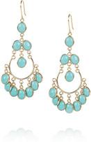 Isharya Gold-plated enameled earrings