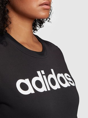adidas PlusEssentials Linear Crew Sweat - Black