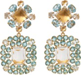 BOUNKIT JEWELRY Clear And Blue Topaz Earrings