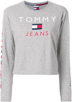 Tommy Jeans flag print longsleeved T-shirt